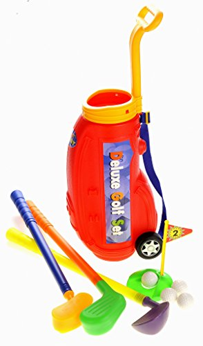 Powertrc Deluxe Golf Play-Set For Kids W/ Easy Storage