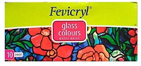 Pidilite Fevicryl Glass Colours, 10 Shades