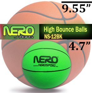 Nero Ns12Bk High Bounce Rubber Basketball 4.7 Inch