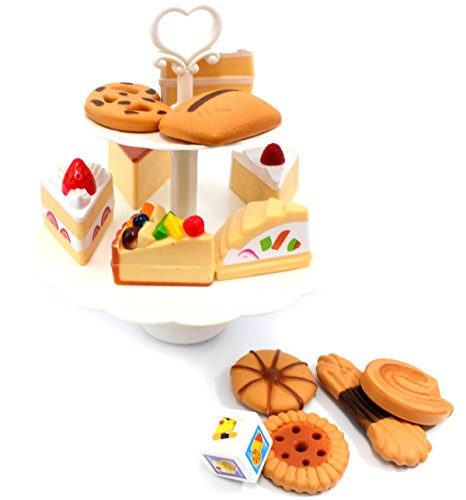 Ampersand Shops Cookies And Desserts Tower Playset Pretend Play Toyset