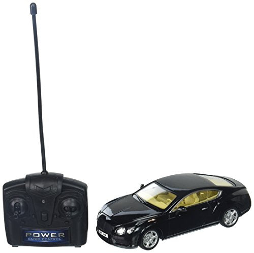 Braha Full Function Remote Control 1:24 Scale - Black Bentley Continental Gt, Black