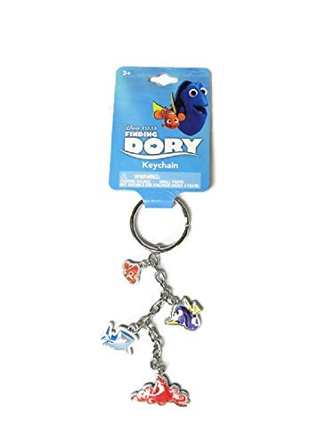 Upd Finding Dory Printed Metal 4 Charm Dangle Keychain