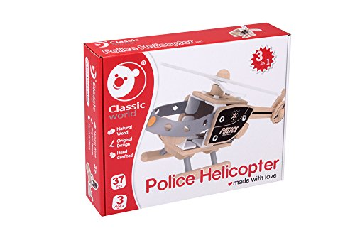 Classic World Police Helicopter Building Set