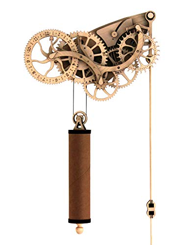 Abong Laser-Cut Mechanical Wooden Pendulum Clock - 3D Clock Puzzle Model Kit - Diy Wooden Clock Kit