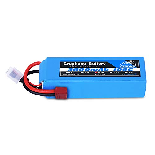 Yowoo 14.8V Lipo Battery, 4S Graphene Lipo Battery 3600Mah 100C Deans T Plug For Rc Boat Helicopter Airplane Quadcopter Drone Fpv Dji E-Flite