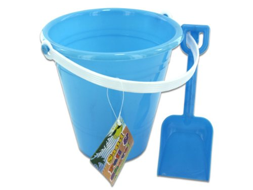 Bulk Buys Solid Colored Beach Pail With Shovel