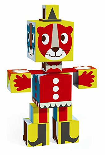 Djeco Totem Cubes Grafico, Cubes Chart Blocks For Infants