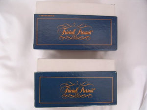 Trivial Pursuit Subsidiary Card Set ; 2 Boxes From The Original Master Game
