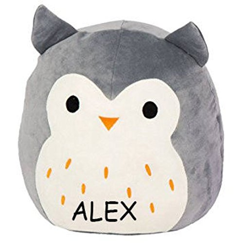 Customized Kellytoy Squishmallow Hoot The Grey Owl Super Soft Plush Toy Pillow Pet Pal Buddy (13 Inches)