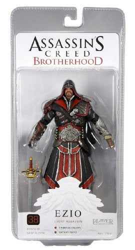 Assassins Creed 7-Inch Brotherhood Ezio Hooded Action Figure (Ebony)