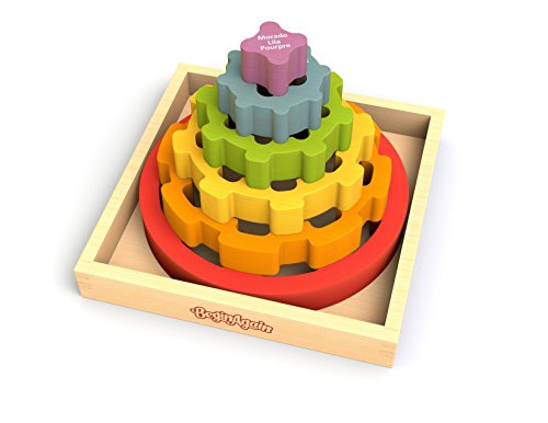 Beginagain - Gear Stacker, Make Learning Fun And Help Spark Your Child'S Imagination, Perfect For Learning Color Names And Spatial Awareness (For Kids 2 And Up)