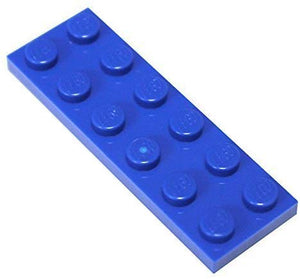Lego Parts And Pieces: Blue (Bright Blue) 2X6 Plate X20