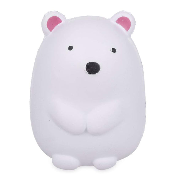 Anboor 5.1 Inches Squishies Polar Bear Kawaii Soft Slow Rising Scented Animal Squishies Stress Relief Kids Toys Gift Collection Decorative Props White