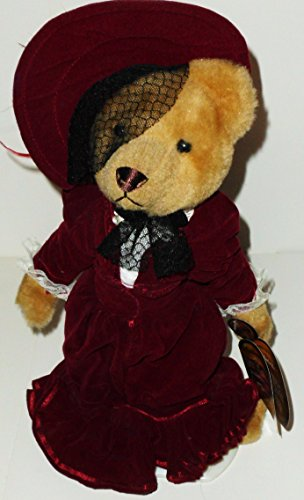 1 X 12 1910'S Gabrielle Brass Button Bear Plush