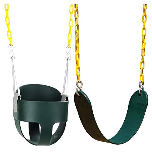 Squirrel Products High Back Full Bucket Swing And Heavy Duty Swing Seat - Swing Set Accessories