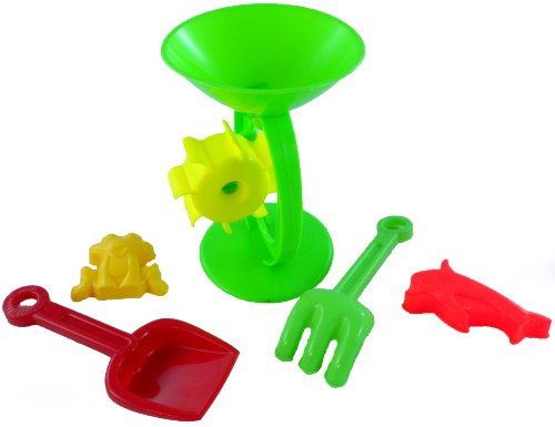 Sand Mill Beach Toy With Shovel And Rake
