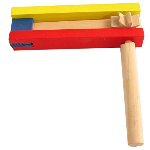 Noise Maker For Purim Colored Wood Gragger (Small - 5.5
