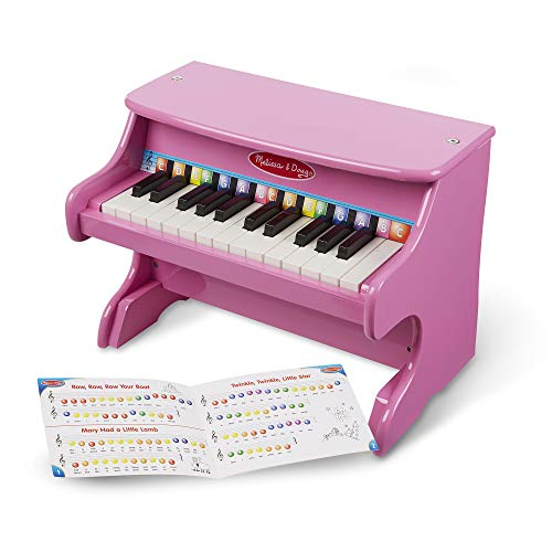 Melissa &Amp; Doug Learn-To-Play Pink Piano With 25 Keys And Color-Coded Songbook