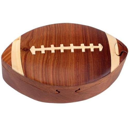 Football - Secret Handcrafted Wooden Puzzle Box