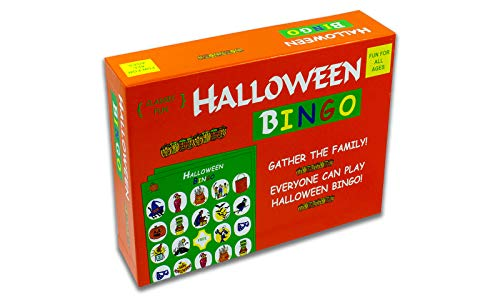Halloween Bingo - The Perfect Halloween Party Game - The Original Halloween Bingo Game With Halloween-Themed Pieces For A Fun-Filled Halloween House Party!