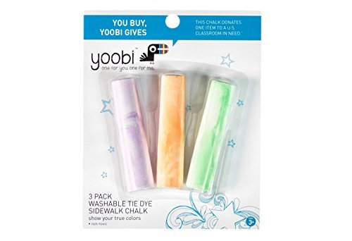Yoobi Washable Tie Dye Sidewalk Chalk - Multicolor (3Pk)