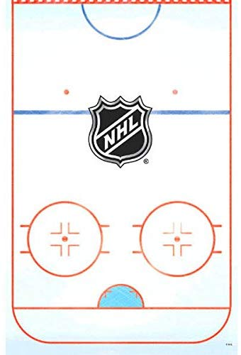 Amscan Nhl Ice Time! Collection Printed Plastic Table Cover For Party, 6 Ct.