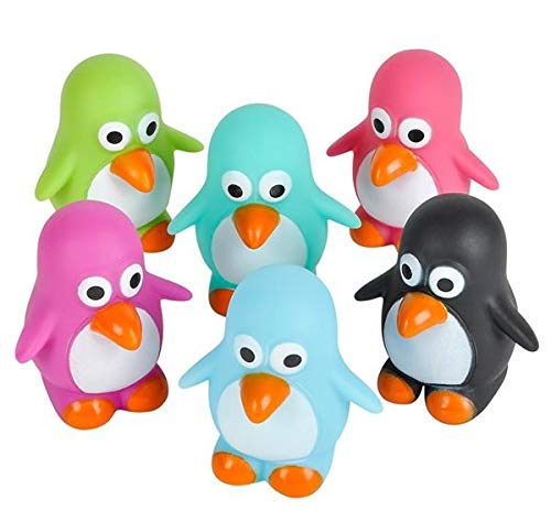 Rhode Island Novelty 2  Rubber Water Squirting Penguins | Assorted Colors | Set Of 12