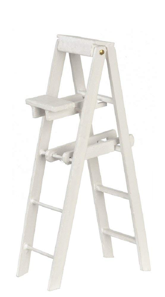 Melody Jane Dollhouse White Step Ladders Large Miniature Decorators Accessory