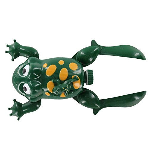 New Design Swimming Frog With Baby Swims In The Water Battery Operated Crawls