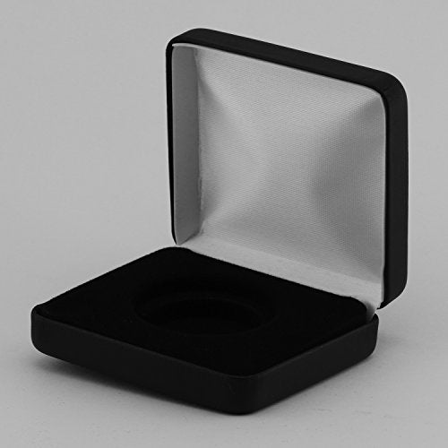 (1) Black Leatherette Model  H  Air-Tite Single Coin Holder Display Box Case For H-32 1Oz American Gold Eagle & Buffalo Direct Fit Coin Capsule
