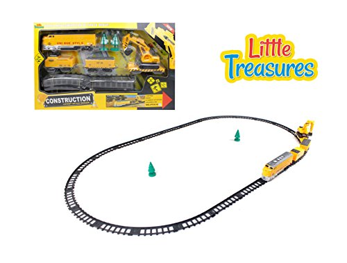 Little Treasures Train Tracks Engineering Fixer Man Set - Drive Down This Construction Train Set And Fix All The Tracks While You Drive Down The Line - Fun Toy For Kids Ages 3+