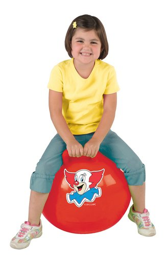Bozo Jumping Ball -18 Single Grip Color May Vary