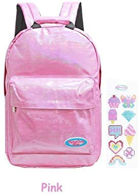 American Jewel Rockin' Candy Backpack - Back To School - Customizable Bag With Stickers - Pink