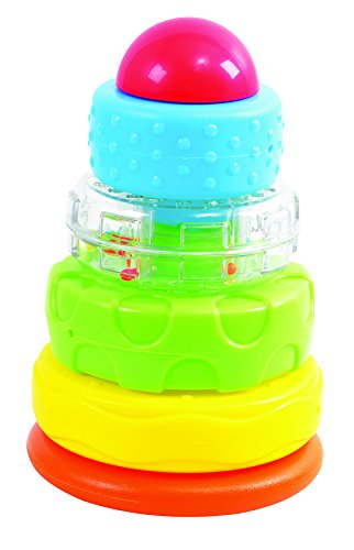Kidsource Rocking Ring Stacker Baby Toy - Classic Play Pattern Promotes Early Learning And Fine Motor Skills For Infants Ages 1 Year Old And Up
