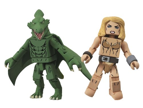Diamond Select Toys Marvel Minimates Series 51 Marvel Now Shanna The She-Devil And Sauron Action Figure