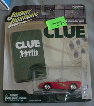 Johnny Lightning 1:64 Clue 2003 Chevy Corvette Convertible Miss Scarlet Pink By Playing Mantis
