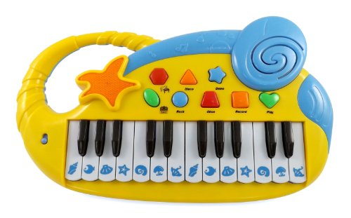Liberty Imports Musical Electronic Keyboard Piano For Kids With Ocean Theme, 24 Keys And Music Playback