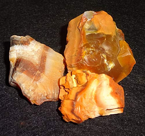 Sublime Gifts Raw Fire Opal / 3Pc #3 / From Mexico / Natural Healing Crystal Gemstone Rough Free Form Collectible Specimen Stones