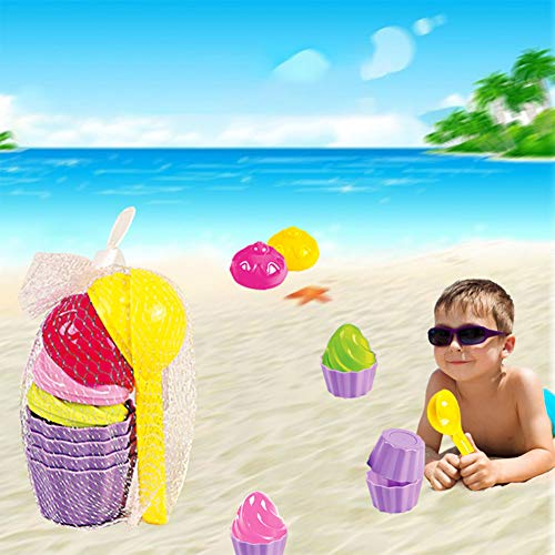 Etbotu Sand Toys 9Pcs/Set Kids Baby Beach Ice Cream Mould Spoon Play Sand And Snow Toy