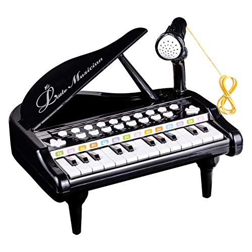 Kids Piano Keyboard Toy 24 Keys Black Friday Electronic Educational Musical Instrument With Microphone