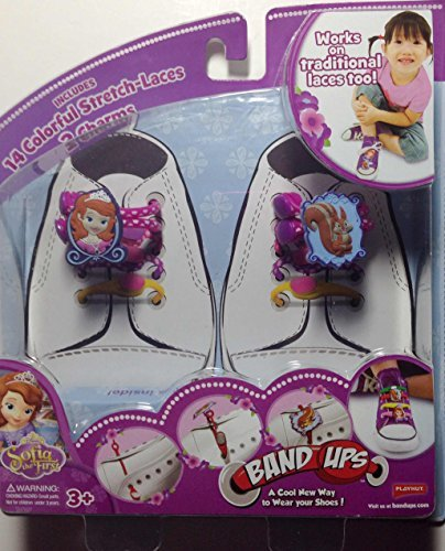 Band-Ups Sofia The First Shoe Lace Set - 14 Colorful Stretch Laces With 2 Charms