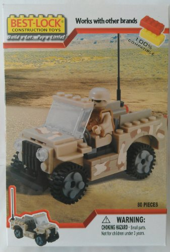 Best Lock Military Jeep 80 Piece Construction Set By Best-Lock