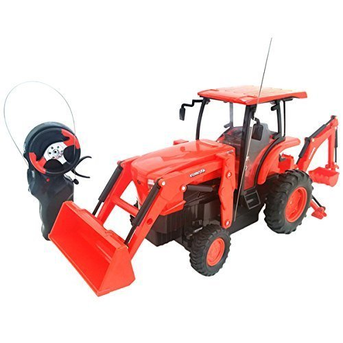 Cool Remote Control Kubota L6060 Loader And Backhoe Tractor- 6  H X 4  W X 14  L