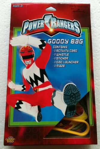 Power Rangers Goody Bag Contains: Activity Card, Whistle, Sticker, Disc Launcher & Maze