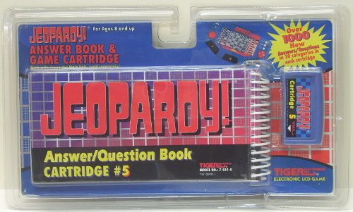 Jeopardy Answer/Question Book Cartridge #5 By Tiger Electronics