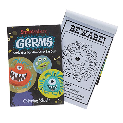 Smilemakers Germ Squad Coloring Books - Prizes 72 Per Pack