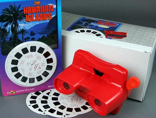 Viewmaster Viewer & 3 Reel Set -Hawaiian Islands- In Presentation Gift Box