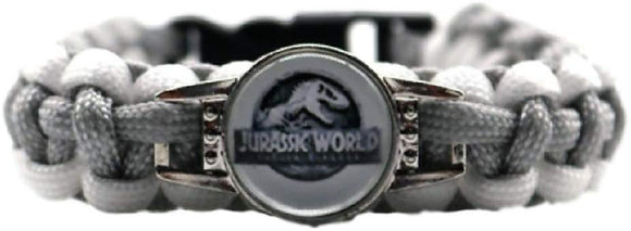 New Horizons Production Jurassic World Logo Paracord Braided Bracelet