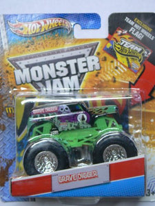 Hot Wheels Monster Jam Grave Digger Includes Exclusive Team Hot Wheels Flag