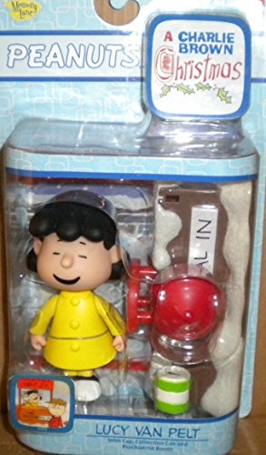 Peanuts Lucy W Psychiatric Mood Booth Playset - Rare Thick Smile Variety - Charlie Brown Christmas